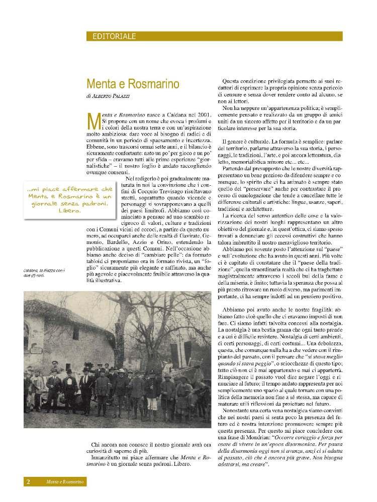 Editoriale di Alberto Palazzi