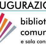 Gemonio-4 Settembre ore 11:30 Inaugurazione Biblioteca e Sala Consiliare