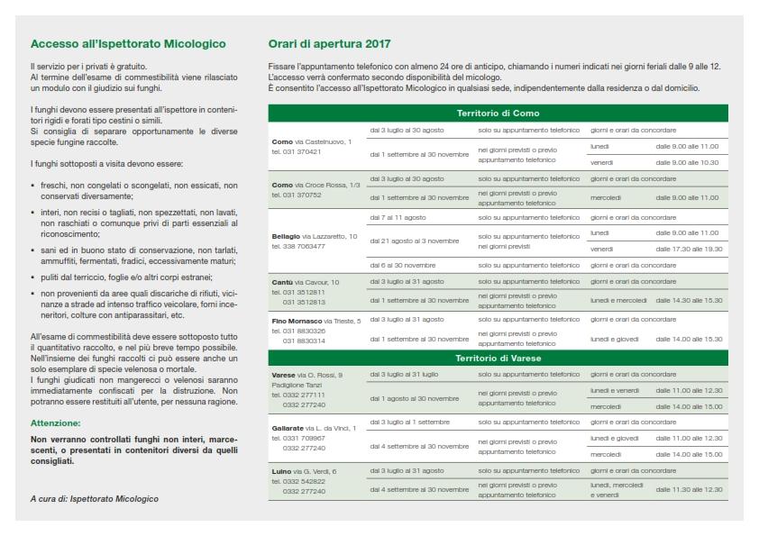 Calendario Funghi.Avvertenze Per Il Consumo Dei Funghi Anno 2017 Menta E