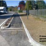 Provinciale sicura col nuovo marciapiede