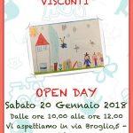 """Sabato 20 Gennaio la Scuola dell'Infanzia """"Visconti"""" aprirà le porte a grandi e piccini"""