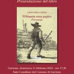 """Il libro di Gregorio Cerini """"Ul Giuanin senza pagura d'Arcumegia"""", edito da """"Menta e Rosmarino."""