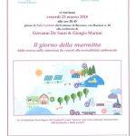 Conferenza – Il Giorno della Marmitta – Venerdi' 23 marzo ore 20.45 in Sala letture a Besozzo.