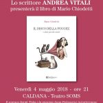 Lo scrittore Andrea Vitali il 4 maggio al teatro Soms di Caldana