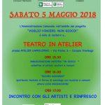 Sabato pomeriggio 5 maggio presso l'Atelier Capricorno (Via Fiume 6, zona S.Andrea).