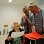 La signora Angela Clivio festeggia i suoi 100 anni e inaugura il museo del dialetto – Una vita lunga come una scala