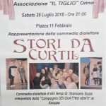 Sabato 28 Luglio ore 21.00 a Orino Piazza XI Febbraio– Storii de Curtil