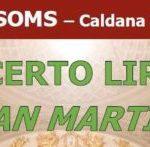 Caldana di Cocquio Trevisago – Concerto lirico di San Martino – Domenica 11 novembre