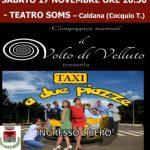 Cocquio Trevisago – Teatro Soms sabato 17 ore 20.30   Taxi a due piazze