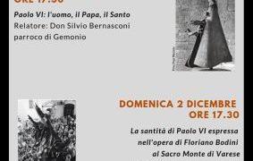 Gemonio Museo Bodini – Domenica 18 novembre e domenica 2 dicembre alle 17.30 due conferenze dedicate alla figura di Paolo VI