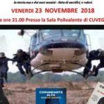 """Cuveglio – Venerdì 23 Novembre alle ore 21.00  presentazione del libro """"Missione segrete"""" del comandante Alfa"""