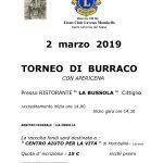 """2 marzo 2019 Torneo di burraco  presso ristorante """" La Bussola """"  Cittiglio"""