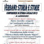 Conferenze di storia locale 2019 a Leggiuno