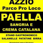 Azzio Sabato 22 giugno parco pro loco –  Paella