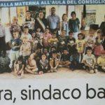 """Bardello – La prima cittadina del Consiglio Comunale dei bambini della scuola materna """"Salvatore Sala"""""""