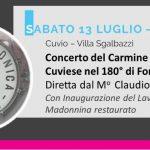 Sabato 13 luglio – ore 21,00 a Cuvio – Villa Sgalbazzi  Filarmonica Cuviese nel 180° di Fondazione
