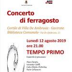 Concerto di ferragosto a Gavirate lunedì 12 agosto ore 21