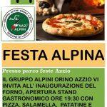 Festa Alpina con inaugurazione forno pizza