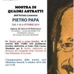 Pietro Papa mostra dal 4 al 6 ottobre a villa Fumagalli