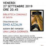 27 settembre 2019 ore 20.45 Saltrio – Chiacchierata con Dino Azzalin
