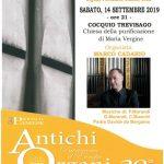 Marco Cadario – Sabato 14 settembre 2019 alle ore 21, presso la Chiesa della Purificazione di Cocquio