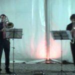 """Momenti dell'evento del Lago Cromatico con i """"Fanta Brass Quartet """""""