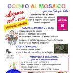 Inaugurazione mosaici dei bambini a Cuvio 3 ottobre 2020