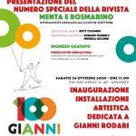 Venerdì  23 ottobre 100 anni di Gianni Rodari – 24 ottobre Inaugurazione installazione artistica dedicata a Gianni Rodari