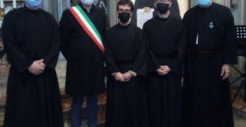A Caravate vestizione di tre novizi, due italiani, Marco ed Emmanuele, e uno portoghese, Joao.