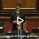 Governo, il discorso integrale di Draghi al Senato – Il video