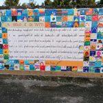 """A Gavirate160  piccoli artisti hanno formato un mosaico ispirandosi al testo di Gianni Rodari """"Il cielo è di tutti"""""""