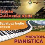 Maratona pianistica – Sabato 17 Luglio ore 19,30al parco comunale di Cuvio