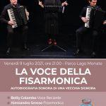 La Voce della Fisarmonica venerdì 9 luglio alle ore 21.00 presso il Parco Lago a Monate