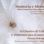 Memoria e memorie – Mostra fotografica di Alessandra Battaggi a Gavirate- Al Chiostro di Voltorre, dal 10 al 18 luglio 2021.