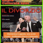 Domenica 1 Agosto, ore 21:00 all'Anfiteatro del Parco Comunale di Cuvio:  'Il Divorzio'