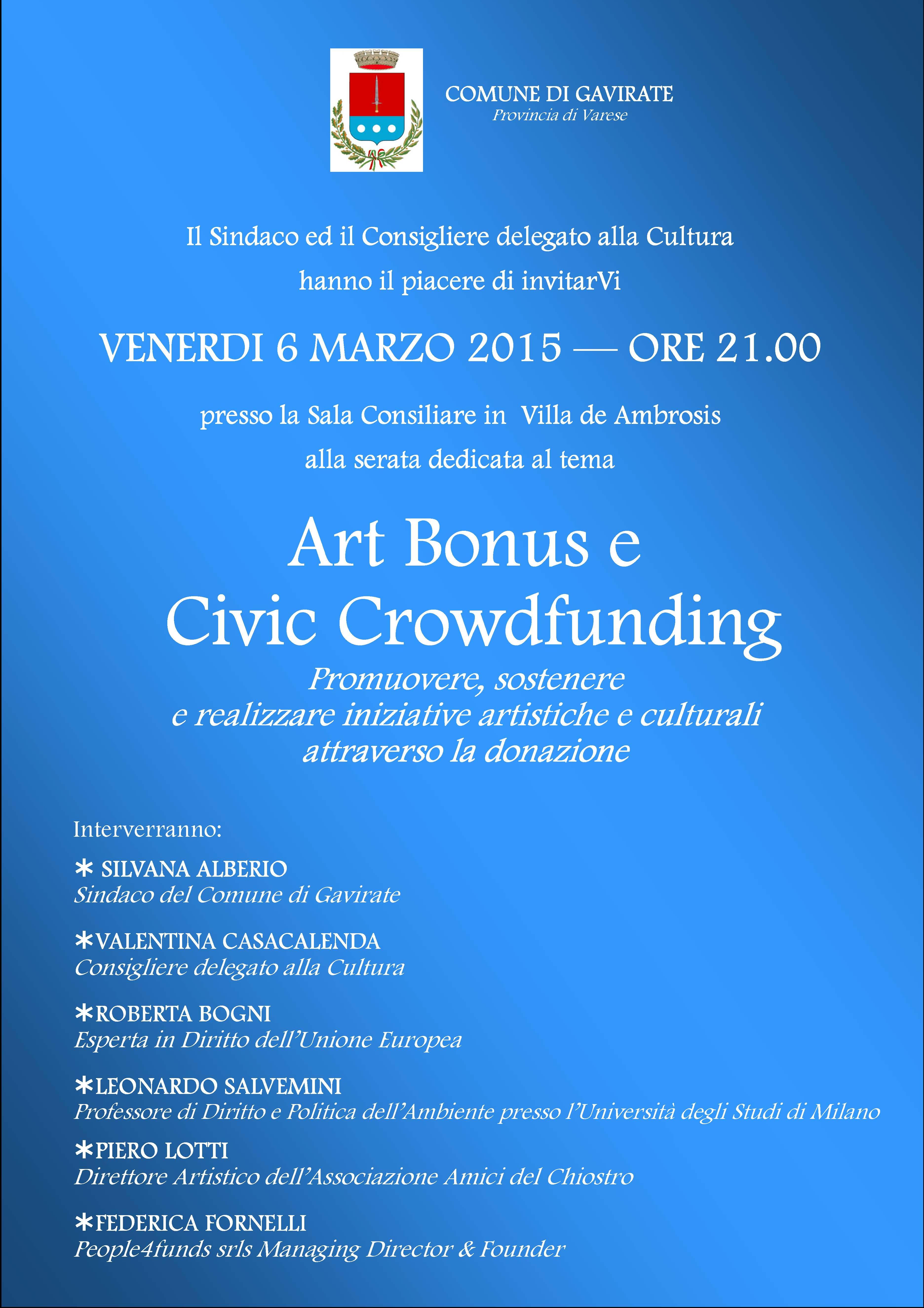 locandina Art Bonus